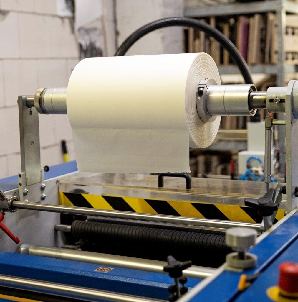 maszyna w drukarni stacjonarnej